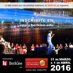flyer audiciones berklee 2016