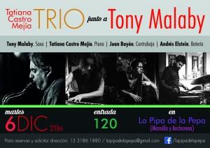 Tati Castro Mejia TRIO junto a Tony Malaby