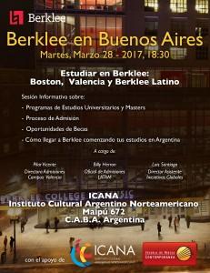 Info Session Berklee en ICANA